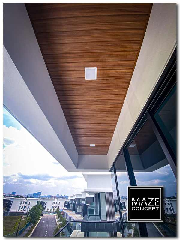 Ceiling Wood Panel For Balcony Kajang V1