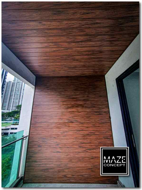 Ceiling Wood Panel For Balcony Puchong V2