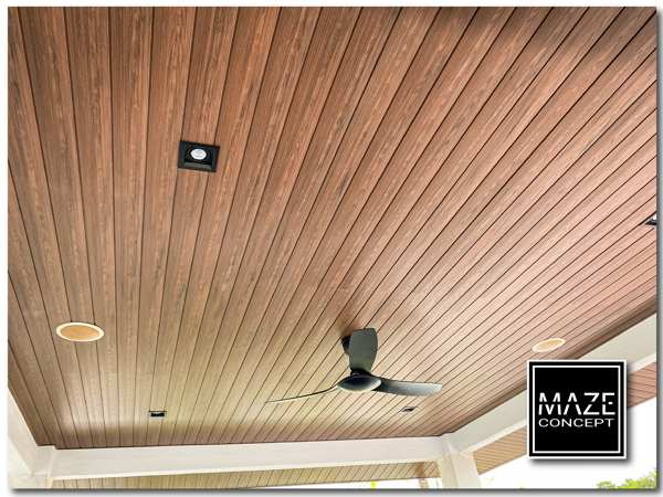 Ceiling Wood Panel For Car Porch 1