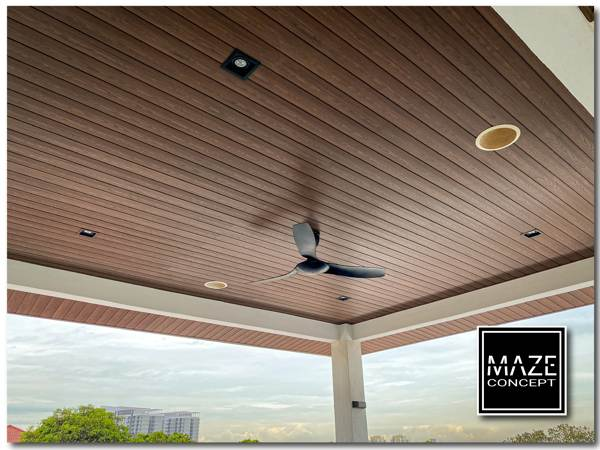 Ceiling Wood Panel For Car Porch 2