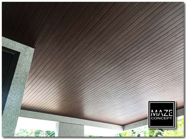 Ceiling Wood Panel For Car Porch 3