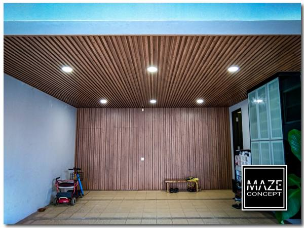 Ceiling Wood Panel For Car Porch 4