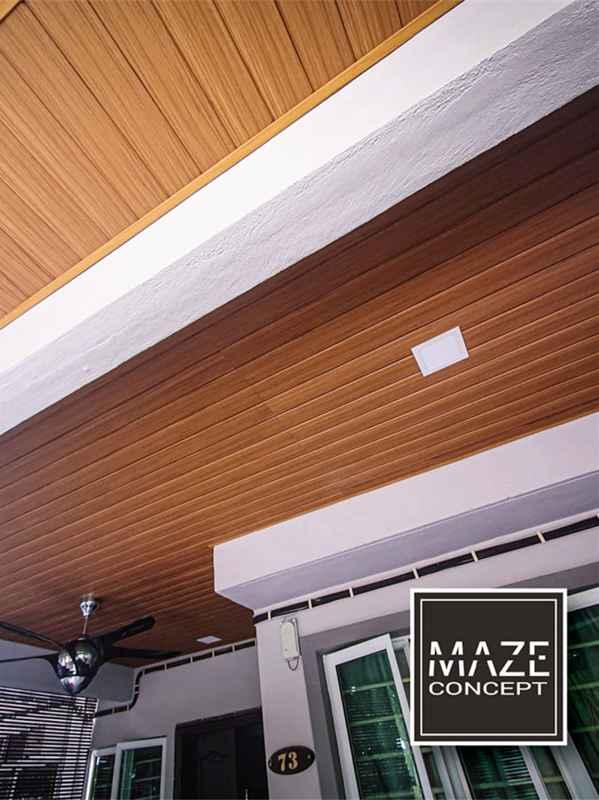 Ceiling Wood Panel For Car Porch Ampang V4
