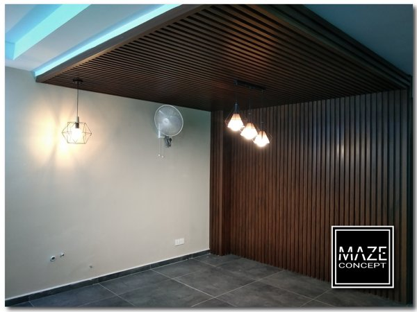 Ceiling Wood Panel For Car Porch Ampang