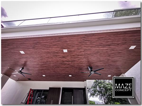 Ceiling Wood Panel For Car Porch Bangi 1