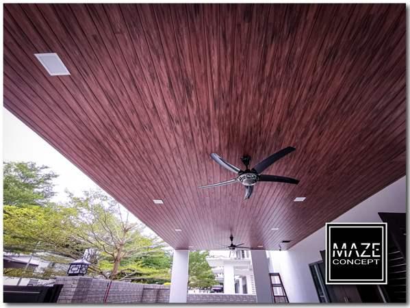Ceiling Wood Panel For Car Porch Bangi