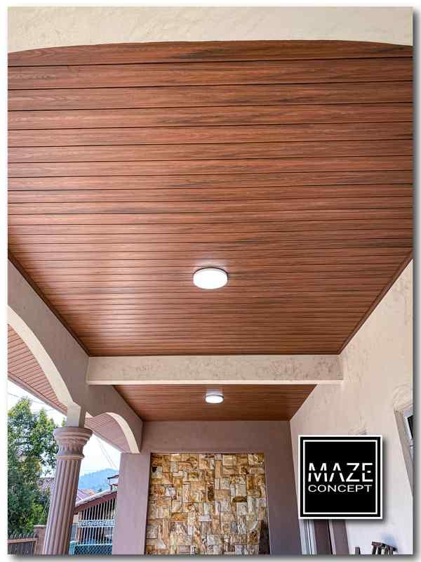 Ceiling Wood Panel For Car Porch Batu Caves V1