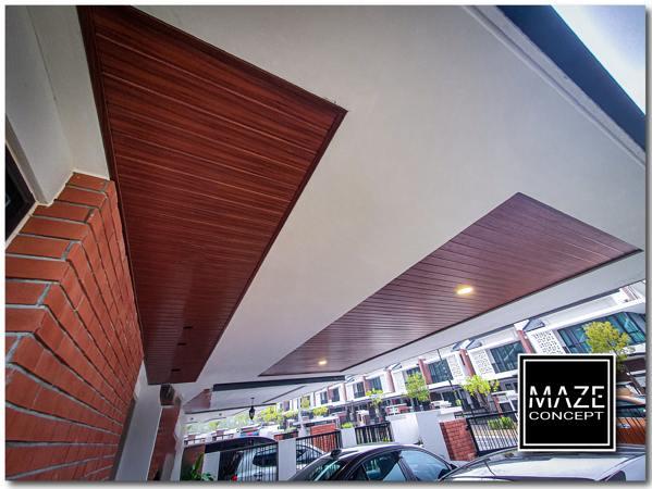 Ceiling Wood Panel For Car Porch Batu Caves