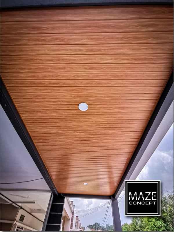 Ceiling Wood Panel For Car Porch Kajang V2