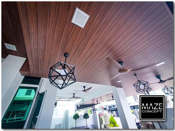Ceiling Wood Panel For Car Porch Kajang