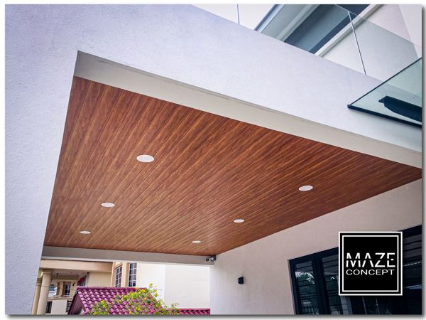Ceiling Wood Panel For Car Porch Kuala Lumpur