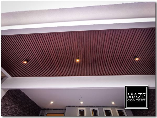 Ceiling Wood Panel For Car Porch Sepang