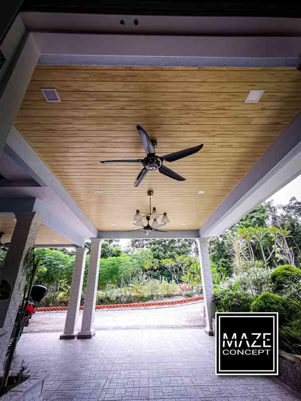 Ceiling Wood Panel For Car Porch Seremban V3