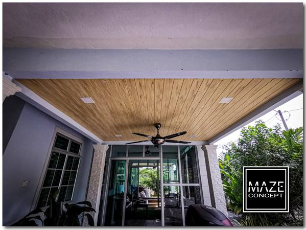 Ceiling Wood Panel For Car Porch Seremban
