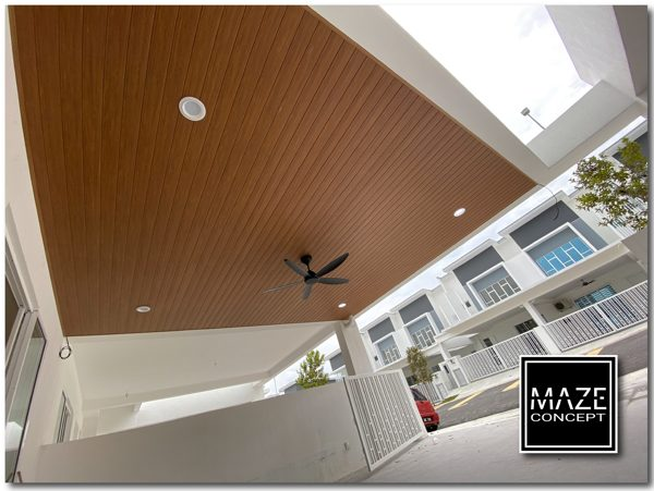 Ceiling Wood Panel For Car Porch