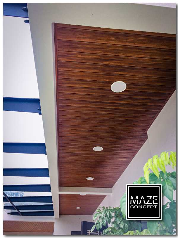 Wood Ceiling Panel For Roof Edge