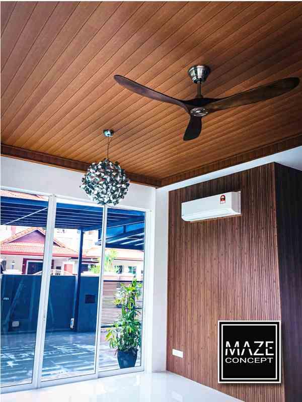 Timber Strip Ceiling For Living Room Petaling Jaya V1