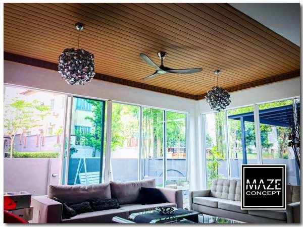 Timber Strip Ceiling For Living Room Petaling Jaya