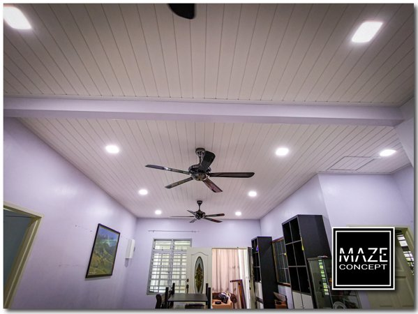Timber Strip Ceiling For Living Room Seremban