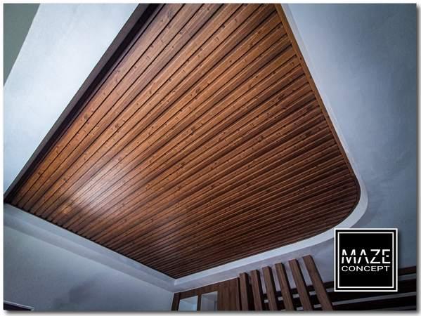 Timber Strip Ceiling For Living Room Setia Alam