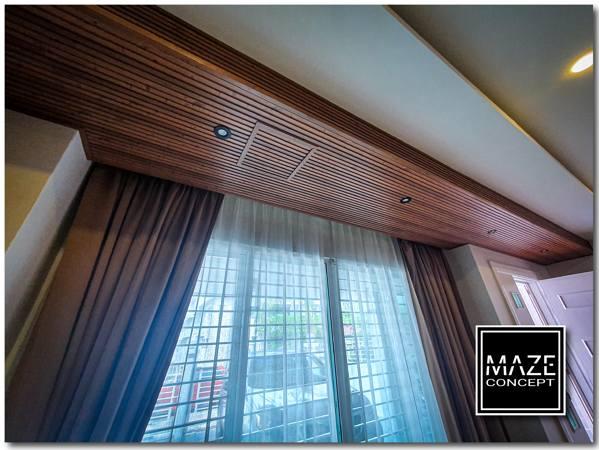 Timber Strip Ceiling For Living Room Subang Jaya