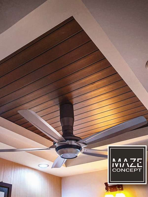 Timber Strip Ceiling For Living Room V8