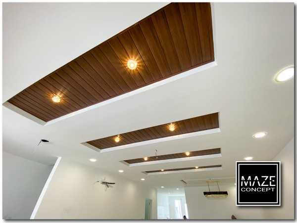 Timber Strip Ceiling For Living Room