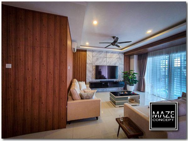 Wood Wall Panel For Living Room Subang Jaya